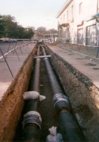 Welding and installation of a DN300 teleheating pipe near Rho (MI) on behalf of A2A (2)
