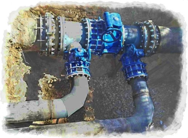 DN600 and DN300 gate valves insertion near ODU of Taranto (2)