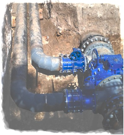 DN600 and DN300 gate valves insertion near ODU of Taranto (1)