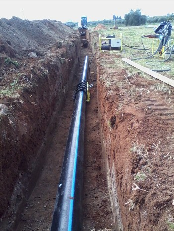 Realization of a PE sewer force pump on behalf of AQP (2)